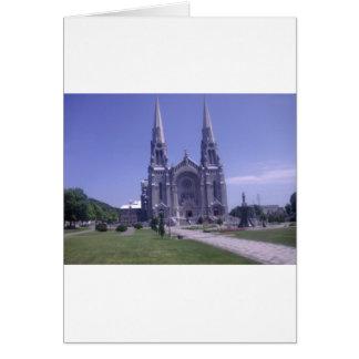 Diseño de la catedral tarjeta de felicitación