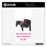 Diseño de la cebra con las margaritas del gerber d skins para iPhone 4S