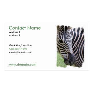 Diseño de la cebra en una tarjeta de visita