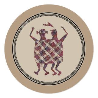 """Diseño de la cerámica de Mimbres Invitación 5.25"""" X 5.25"""""""