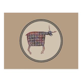 Diseño de la cerámica de Mimbres Tarjetas Postales