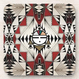 Diseño de la cerámica de Zuni Sunface Posavasos