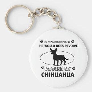 Diseño de la chihuahua llavero redondo tipo pin