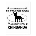 Diseño de la chihuahua postal