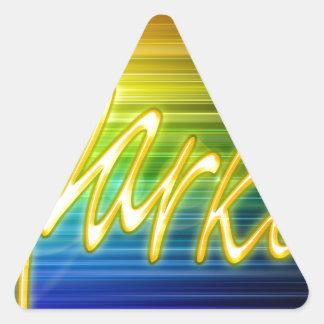 Diseño de la chispa pegatina triangular