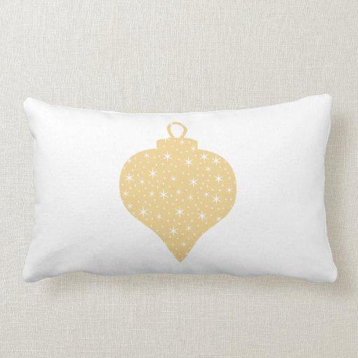 Diseño de la chuchería del navidad del color oro cojín lumbar