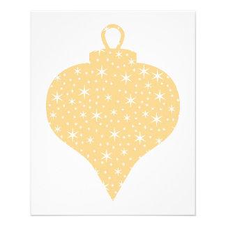 """Diseño de la chuchería del navidad del color oro folleto 4.5"""" x 5.6"""""""