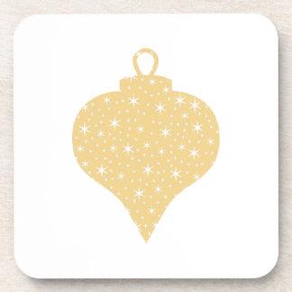Diseño de la chuchería del navidad del color oro posavasos de bebida