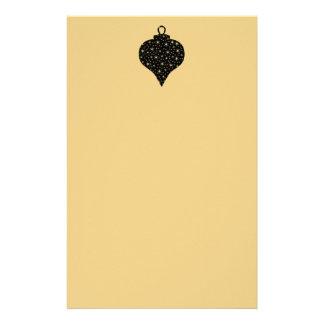 Diseño de la chuchería del navidad del negro y del personalized stationery