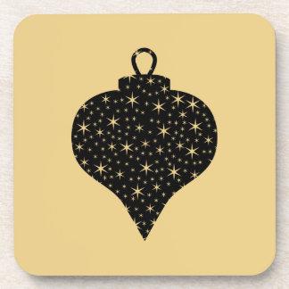 Diseño de la chuchería del navidad del negro y del posavasos