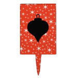 Diseño de la chuchería del navidad en negro, rojo  decoración para tarta