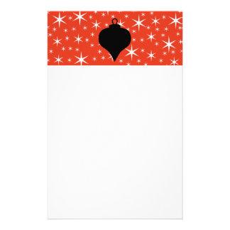 Diseño de la chuchería del navidad en negro, rojo  papelería personalizada