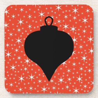 Diseño de la chuchería del navidad en negro, rojo  posavasos de bebida