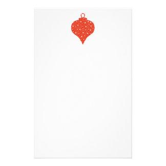 Diseño de la chuchería del navidad rojo y blanco papelería personalizada