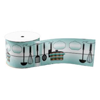 Diseño de la cinta de los utensilios de la cocina lazo de tela gruesa