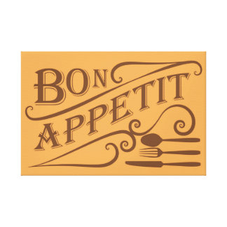 Diseño de la cita de Appetit del Bon Impresion En Lona