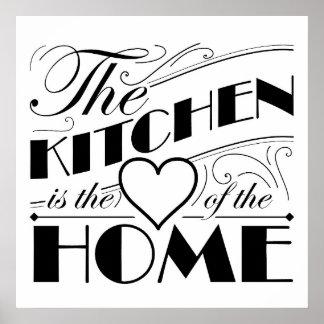 Diseño de la cita de la cocina póster