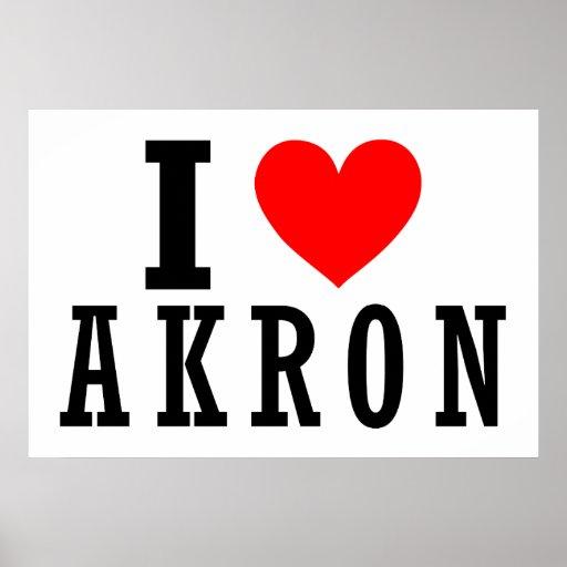 Diseño de la ciudad de Akron, Alabama Poster