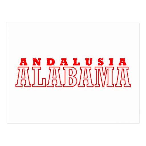 Diseño de la ciudad de Andalucía, Alabama Tarjetas Postales
