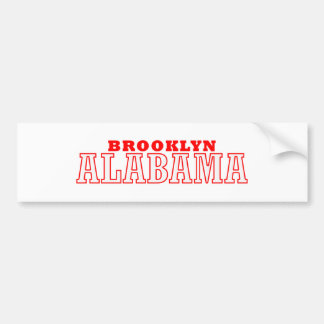 Diseño de la ciudad de Brooklyn, Alabama Etiqueta De Parachoque