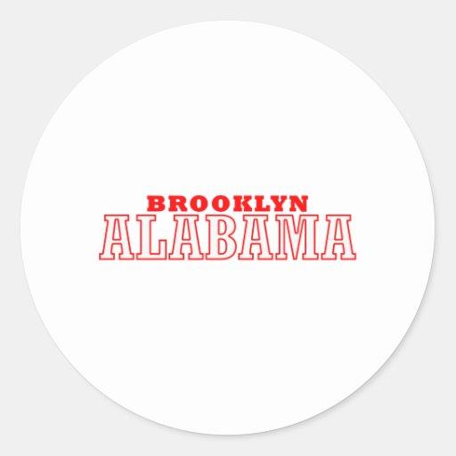 Diseño de la ciudad de Brooklyn, Alabama Etiqueta