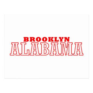 Diseño de la ciudad de Brooklyn Alabama Postales