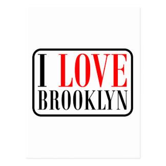 Diseño de la ciudad de Brooklyn Alabama Tarjetas Postales