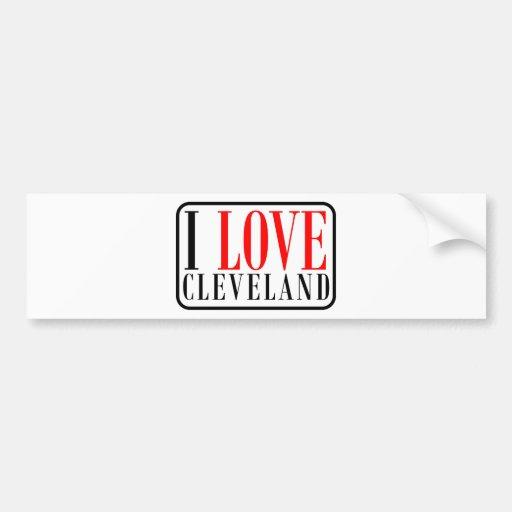 Diseño de la ciudad de Cleveland, Alabama Pegatina De Parachoque