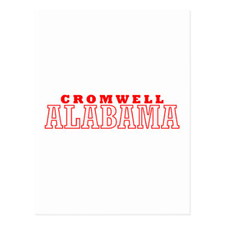 Diseño de la ciudad de Cromwell, Alabama Tarjetas Postales