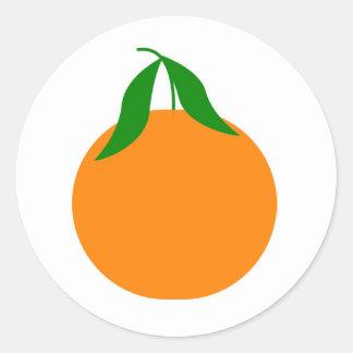 diseño de la clementina pegatina
