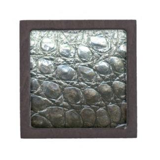 Diseño de la Cocodrilo-Piel del cocodrilo de Caima Cajas De Joyas De Calidad