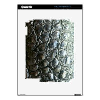 Diseño de la Cocodrilo-Piel del cocodrilo de Caima Calcomanía Para El iPad 2