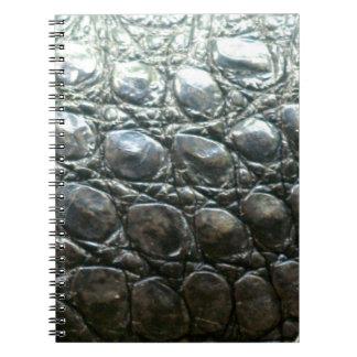 Diseño de la Cocodrilo-Piel del cocodrilo de Caima Libreta Espiral