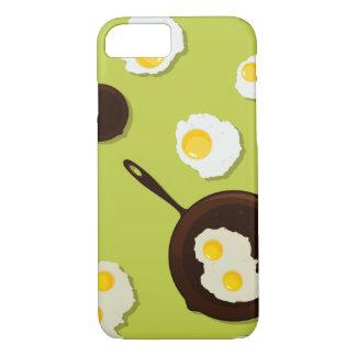 Diseño de la comida de la diversión de los huevos funda iPhone 7