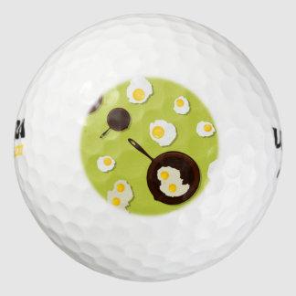 Diseño de la comida de la diversión de los huevos pack de pelotas de golf
