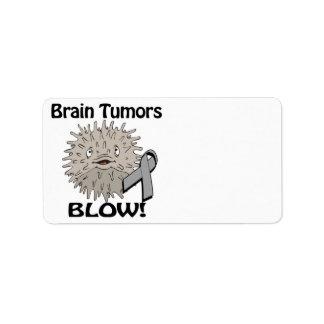 Diseño de la conciencia del soplo de los tumores c etiqueta de dirección