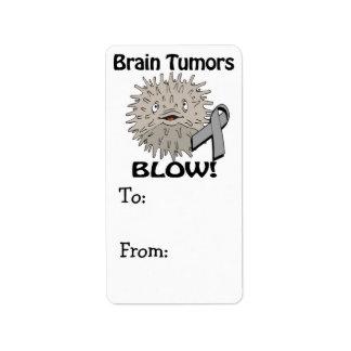 Diseño de la conciencia del soplo de los tumores etiqueta de dirección