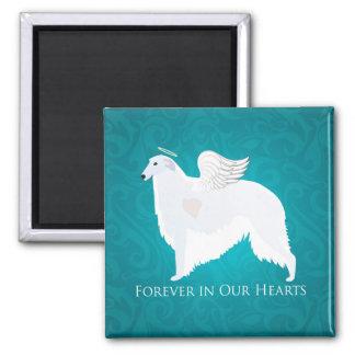 Diseño de la condolencia de la pérdida del mascota imán cuadrado