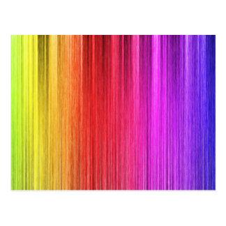 Diseño de la cortina del arco iris postal