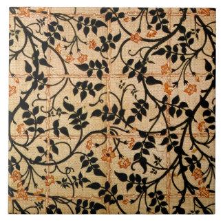 Diseño de la cortina del rastro del jazmín, 1868-7 azulejo cuadrado grande