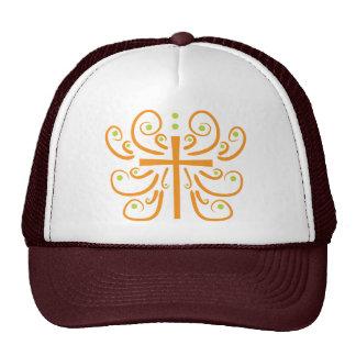 Diseño de la cruz de la diversión gorras