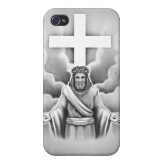 Diseño de la cruz de la resurrección del Jesucrist iPhone 4 Carcasa