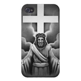 Diseño de la cruz de la resurrección del Jesucrist iPhone 4 Cobertura