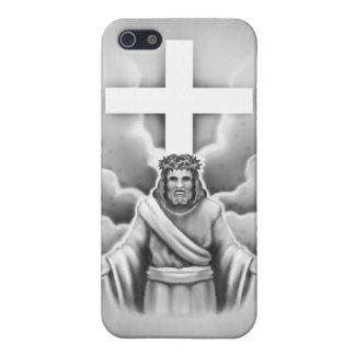 Diseño de la cruz de la resurrección del Jesucrist iPhone 5 Cárcasa