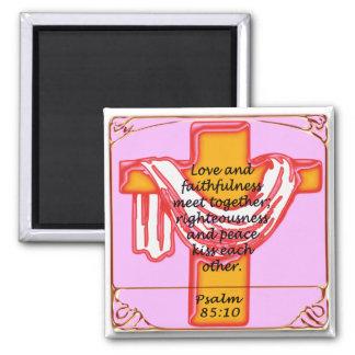 Diseño de la cruz del salmo imán