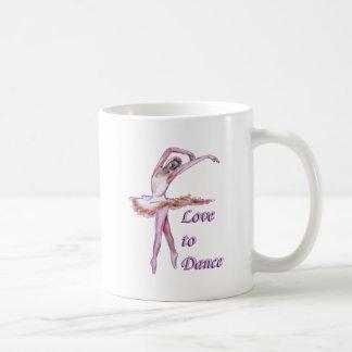 Diseño de la danza de la bailarina del ballet taza de café