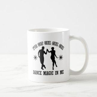 diseño de la danza del cha del cha del cha taza de café