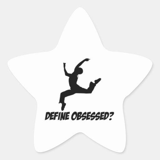 diseño de la danza pegatinas forma de estrella personalizadas