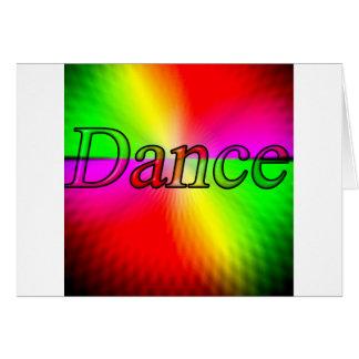 Diseño de la danza tarjeta de felicitación