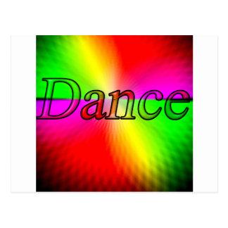 Diseño de la danza tarjetas postales